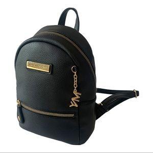 Marc New York Black Leather Mini Backpack